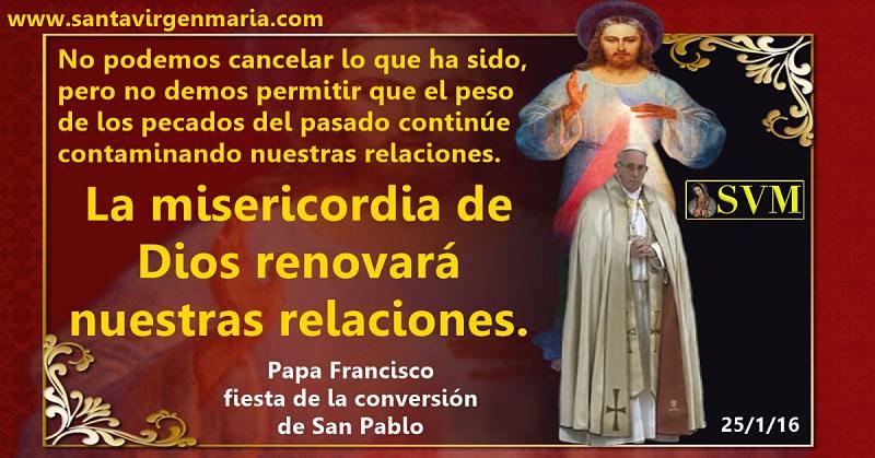 Papa Francisco 25 de enero 2016