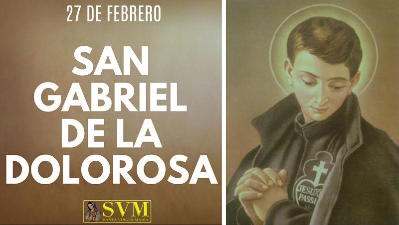 San Gabriel de la Dolorosa Francesco patron juventud italiana