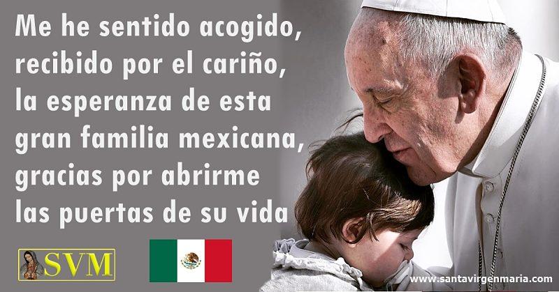 Papa Francisco agradece a los mexicanos