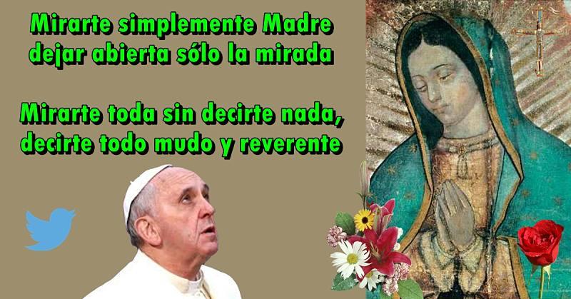 Tweet Del Papa Francisco 14 De Febrero De 2015 Santa Virgen Maria