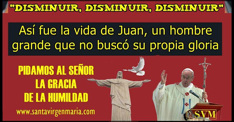 La humildad de Juan el Bautista