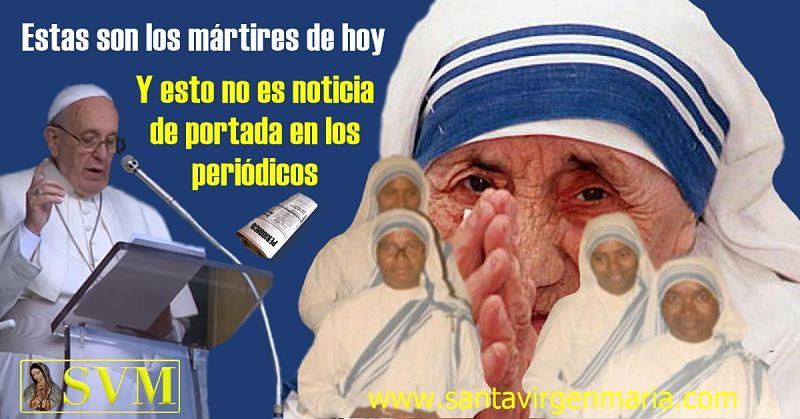 papa francisco los mártires no son noticia