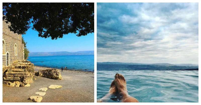 Mar de Galilea y mar muerto Israel turismo peregrinación
