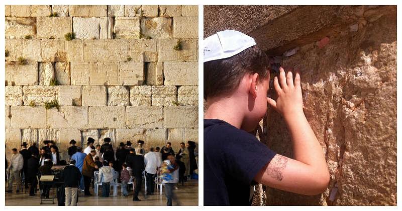Muro de los lamentos peregrinación Tierra Santa Israel