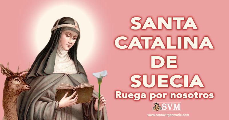 ORACIÓN A SANTA CATALINA DE SUECIA
