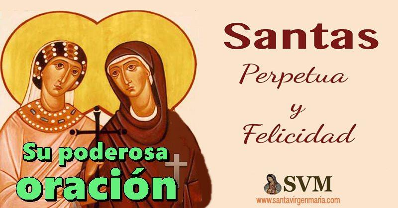 oración a las Santas Perpetua y felicidad