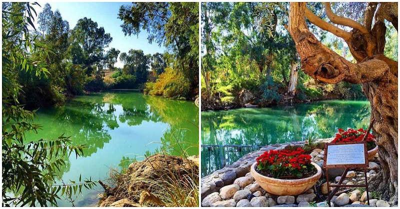 Rio Jordan Israel peregrinación tierra santa bautismo cristiano católico sacramento