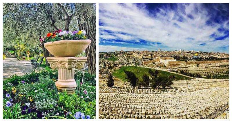 Vista de Jerusalem Israel desde el monte de los Olivos
