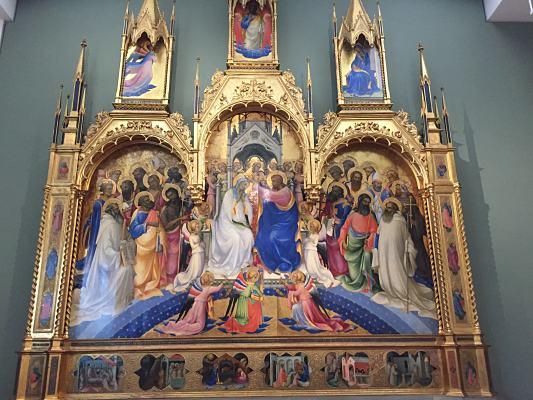 Lorenzo el monje: coronación de la Virgen