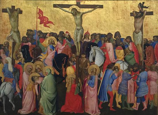 La crucifixión de Agnolo Gaddi