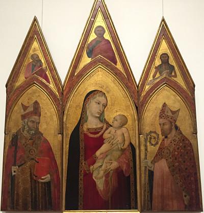 Virgen con el niño y santos de Ambrosio Lorenzetti