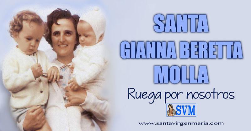 ORACION A SANTA GIANNA BERETTA MOLLA