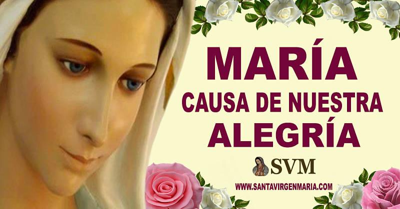 ORACION A MARIA CAUSA DE NUESTRA ALEGRIA