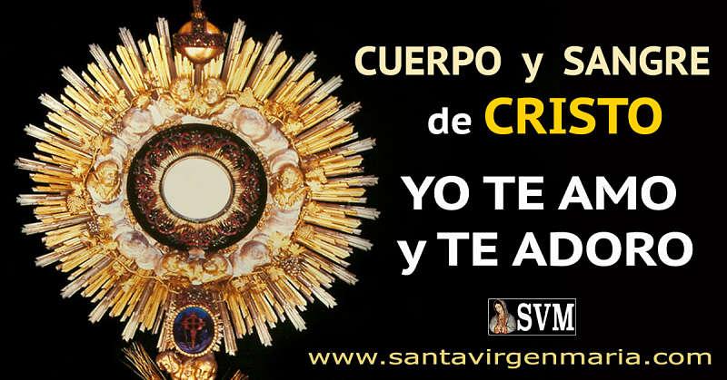 ORACION AL CUERPO Y SANGRE DE CRISTO