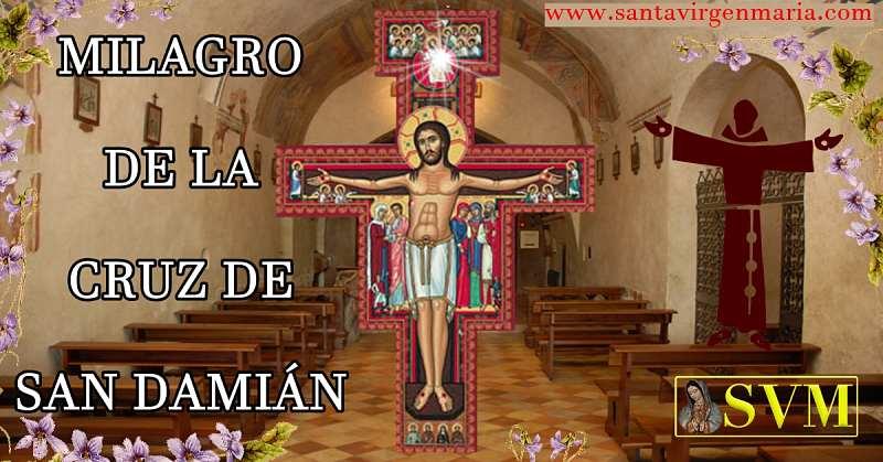 cruz de SAN DAMIAN MILAGRO DE SAN FRANCISCO DE ASIS