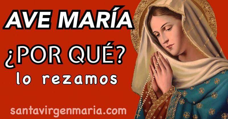 El Ave María en la Biblia oración católica santa virgen maria