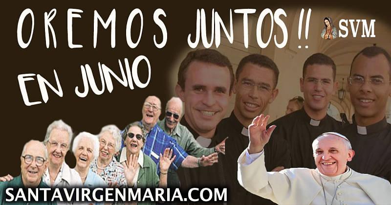 INTENCIONES DE ORACION DEL PAPA PARA JUNIO