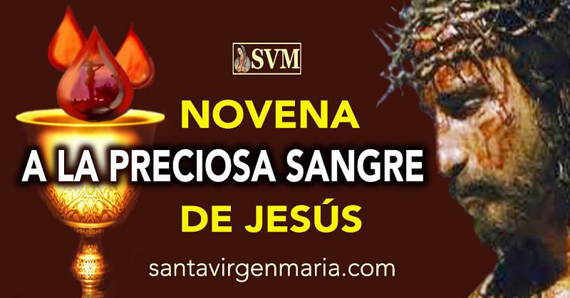 NOVENA A LA PRECIOSA SANGRE DE JESUS
