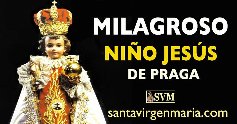 ORACION AL MILAGROSO NIÑO JESÚS DE PRAGA
