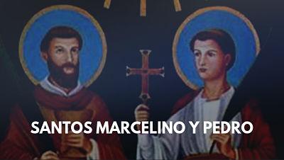 Santos Marcelino y Pedro martires santo dle dia 7 de junio foto