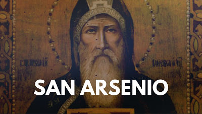 San Arsenio monje del desierto vida biografia foto imagen
