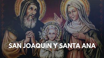 San Joaquin y Santa Ana abuelos de Jesus padres de Santa Virgen Maria