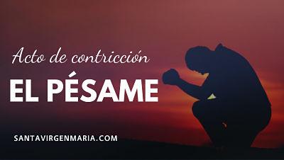 El pesame Dios mio confesion confesionario antes de morir