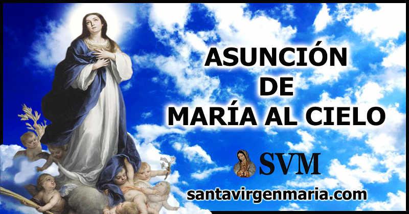 ORACION A LA ASUNCION DE MARIA AL CIELO