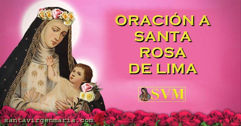Oración a santa Rosa