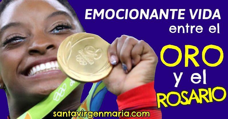 ORO olímpico para la gimnasta católica Simone Biles