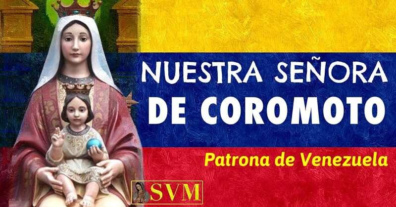 ORACION A NUESTRA SEÑORA DE COROMOTO patrona de venezuela foto bandera
