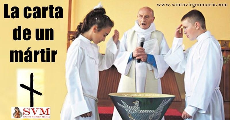 Última carta del padre Jacques Hamel