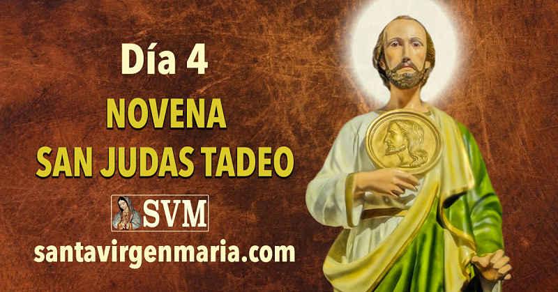 DIA 4 NOVENA A SAN JUDAS TADEO.