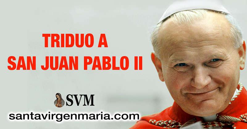 TRIDUO A SAN JUAN PABLO II