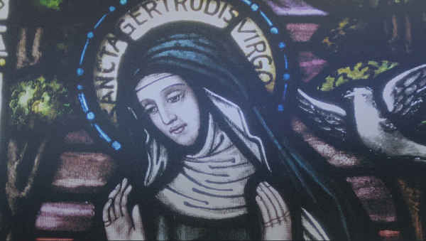 Santa Gertrudis biografia vida mistica