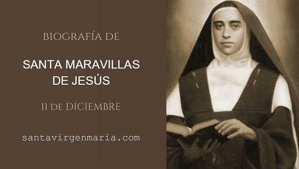 Santa Maravillas de Jesús mistica biografia foto vida