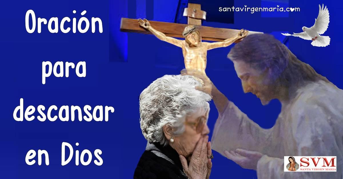 Oración para descansar en Dios, descanso en el Espíritu